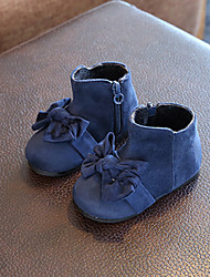 Baby Flats Winter Comfort Leatherette Outdoor Casual Low Heel Magic Tape Blue Burgundy Walking
