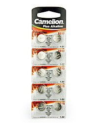 Camelion AG10 Coin Button Cell Alkaline Battery 1.5V 10Pack