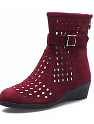 Sapatos de Dança(Preto Verde Vermelho) -Feminino-Não Personalizável-Botas de Dança