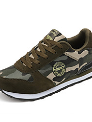 Herren-Sneaker-Outddor Lässig-Leinwand-Flacher Absatz-Komfort Leuchtende Sohlen paar Schuhe-Armee-Grün