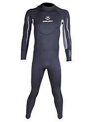 WINMAX Men's 3mm Drysuits Full Wetsuit Waterproof Thermal / Warm Quick Dry Insulated Breathable Compression Neoprene Diving SuitLong
