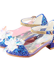 Girls Cinderella Glass Slipper Princess Crystal Shoes Soft Bottom Dress shoes Princess Performance shoes with Elastic Heels Party Dress Princess Shoes