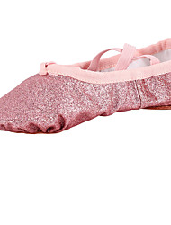 Kids' Dance Shoes Fabric Fabric Ballet Flats Flat Heel Beginner Indoor Pink Gold
