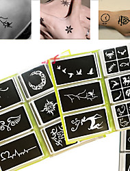 63 x Henna Tattoo Stencils Airbrush Stencil Glitter Temporary Tattoo Body Mehndi