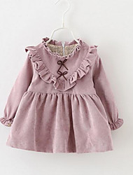 Baby Solid Dress,Rayon Winter Pink
