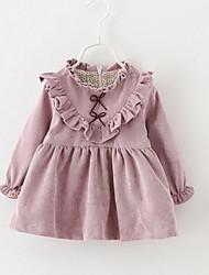 малыш ПлатьеОднотонный,Искусственный шёлк,Зима,Розовый