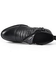 Masculino-Botas-Tira em T-Rasteiro-Preto-Borracha-Casual