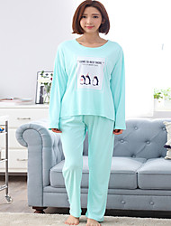 Spring pajamas female long-sleeved cotton suit tracksuit woman pajamas female models cotton pajamas Pajamas Leisure