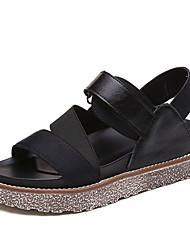 Sandals Summer Mary Jane Leatherette Outdoor Dress Casual Flat Heel Buckle Hook & Loop Walking