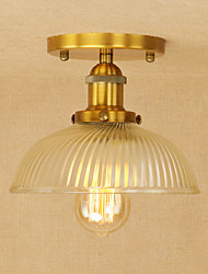 Pendant Light   Retro Country Bowl Electroplated Feature for Edison Bbulb Mini Style Designers MetalLiving Room Dining Room Study Room/Office Entry