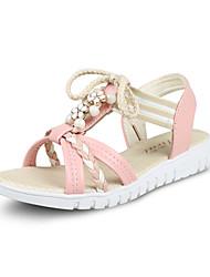женская сандалии летом комфорт пу случайная жемчужная ходьба