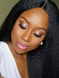 150%&180% perucas excêntricas linha reta do Brasil virgens humanos cabelo laço frontal para as mulheres