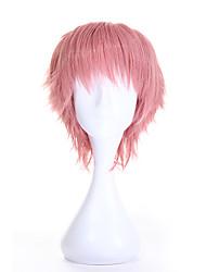 cosplay venta de la manera pelucas sintéticas peluca corta de color rosa rizado para las mujeres