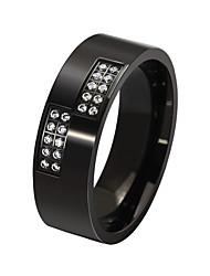 Ring Kreis Stahl Runde Form Gold Schwarz Schmuck Für Alltag 1 Stück