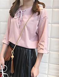 Vrai coup! Version coréenne de la sangle de collier en vrac en vrac t-shirt chemise chemise étudiante