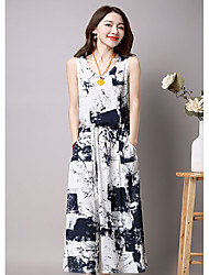 Dress long section 2017 summer new ink skirt suit skirt + cardigan vest two-piece dress