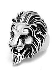Luxury Brand Lion Rings For Men Stainless Steel Ring Hip Hop Jewelry Cheap Foundry Animal Rings 2017 New Arrivals Fashion Brand