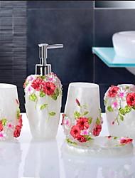 Romantic Bathroom Accessory Set Resin /Barroco