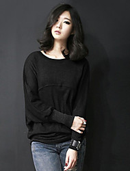 The new long section of loose fat MM Korean yards female long-sleeved T-shirt sweater female backing shirt