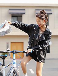 Signe ~ 2016 automne et hiver korean fashion loose leisure pu revers en cuir