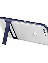 Pour Avec Support Transparente Coque Coque Arrière Coque Couleur Pleine Dur Silicone pour Huawei Huawei P8 Lite (2017) Huawei Honor 8