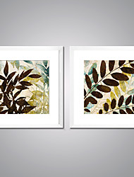 Canvas Prints Abstract Leaves  Picture Print on Canvas Contemporary Canvas Art with White Frame  for Wall Decoration