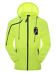 Homens Jaqueta Blusas Acampar e Caminhar Pesca Alpinismo De ExcursionismoRespirável Secagem Rápida A Prova de Vento Resistente Raios