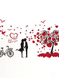 Wall Stickers Wall Decals Style Lovers Tree PVC Wall Stickers