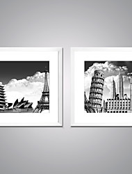 Framed Canvas Print Famous Landscape Modern Realism,Two Panels Canvas Square Print Wall Decor For Home Decoration