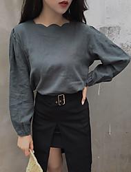 assinar estilo chique colar onda coreana camisa de algodão hedging
