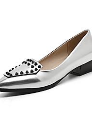 Heels Spring Summer Fall Winter Club Shoes PU Office & Career Party & Evening Dress Low Heel Rivet