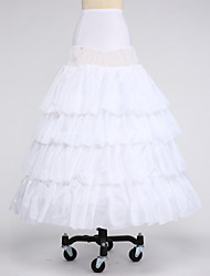 Slips Ball Gown Slip Floor-length 4 Taffeta Satin White Black Red