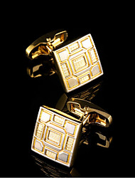 New Shirt Gold Cufflinks for Mens Gifts Brand Cuff Buttons Cuff link Suit Sleeve Buttons Men's Cuffs Wedding Jewelry