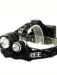 Велосипедные фары LED - Велоспорт Перезаряжаемый Очень легкие Простота транспортировки 18650 Люмен Батарея Натуральный белыйПовседневное