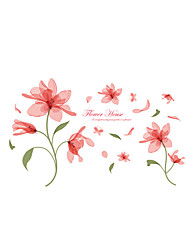 Wall Stickers Wall Decals Style Ethereal Flower PVC Wall Stickers