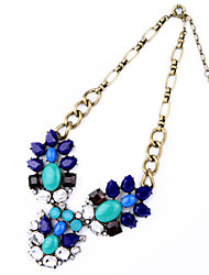 Women's Strands Necklaces Crystal Flower Chrome Unique Design Jewelry For Congratulations Thank You Gift 1pc