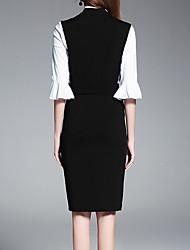 Tee-shirt Femme,Couleur Pleine Grandes Tailles Sexy Printemps Sans Manches Col en V Rayonne