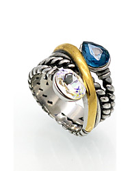 Fashion Twisted Line Titanium Steel Rings Brand Design Vintage Jewelry For Women