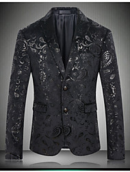 Men's Casual/Daily Party/ Holiday Sexy Simple Street chic Spring Fall BlazerPrint Notch Lapel Long Sleeve RegularCotton