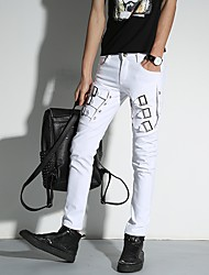 Young men Korean version of spring and summer personality casual pants feet long pants tide pencil pants Night
