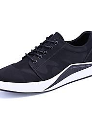 Men's Sneakers Spring Fall Winter Comfort Patent Leather Outdoor Office & Career Casual Flat Heel Black/Grey
