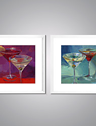 Framed Canvas Prints Abstract Painting Cups of Drinks Picture Print on Canvas Contemporary Wall Art for Hotel Decoration
