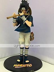 Las figuras de acción del anime Inspirado por Naruto Sasuke Uchiha PVC 24 CM Juegos de construcción muñeca de juguete