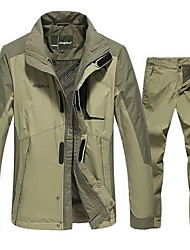 Men's Jacket Pants/Trousers/Overtrousers Clothing Sets/Suits Running Waterproof Thermal / Warm Windproof Antistatic Comfortable Thick