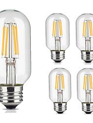 5pcs t45 3.5w 300-350lm e27 annata lampadina filament lampada bianca calda / fredda retro edison lampada ac220-240v