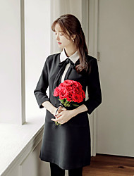 Han Guoguan network 2017 spring new ladies temperament small fragrant wind sleeve dress little black dress