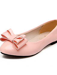 Women's Flats Spring Fall Comfort Patent Leather Customized Materials Office & Career Dress Casual Flat Heel Bowknot