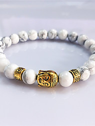 Bracelet Strand Bracelet Turquoise Buddha Circle Volcanic Magnetic Therapy Gift Jewelry Gift Gold 1pc