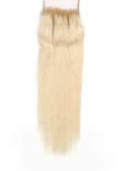 """1 YR Warranty Remy Human Hair Lace Closure 4""""*4"""" #613 Blonde Straight Top Closures Hair 10""""-18"""""""