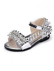 Girls' Sandals Summer Comfort Leatherette Outdoor Office & Career Party & Evening Dress Casual Flat Heel Applique Sequin Hook & Loop